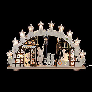Candle Arches Fret Saw Work 3D Candle Arch - Lantern Man - 66x43x6cm - 26x17x2,4 inch