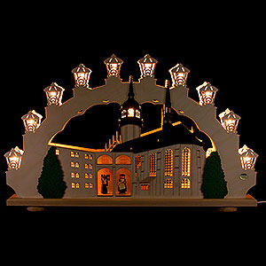 Candle Arches Fret Saw Work 3D Candle Arch - Martin Luther in Wittenberg - 66x41x6 cm / 26x16x3 inch