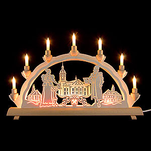 Candle Arches Fret Saw Work 3D Double Arch - Annaberg - 50x32 cm / 20x12.6 inch