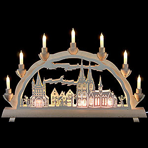 Candle Arches Fret Saw Work 3D Double Arch - Cologne Cathedral - 50x32 cm / 20x12.6 inch