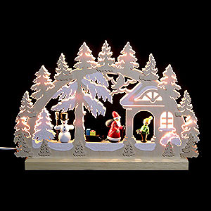 Candle Arches Fret Saw Work 3D Double Arch - Gift Giving - 42x30x4,5 cm / 16x12x2 inch
