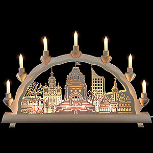Candle Arches Fret Saw Work 3D Double Arch - Leipzig - 50x32 cm / 20x12.6 inch
