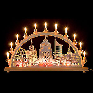 Candle Arches Fret Saw Work 3D Double Arch - Leipzig - 68x35 cm / 27.8x14 inch