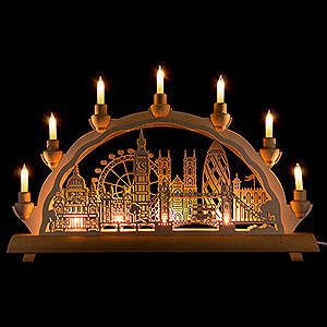 Candle Arches Fret Saw Work 3D Double Arch - London - 50x32 cm / 19.7x12.6 inch