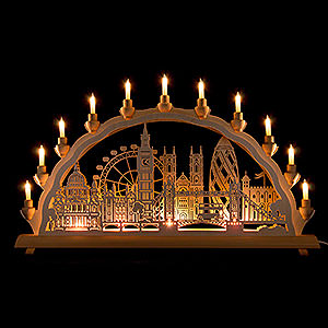 Candle Arches Fret Saw Work 3D Double Arch - London - 68x35 cm / 27.8x13.8 inch