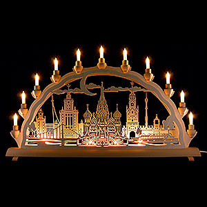 Candle Arches Fret Saw Work 3D Double Arch - Moscow - 68x35 cm / 26.8x13.8 inch