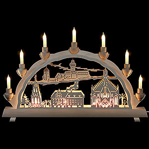 Candle Arches Fret Saw Work 3D Double Arch - Nuremberg - 50x32 cm / 20x12.6 inch