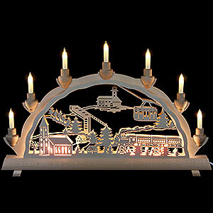 Candle Arches Fret Saw Work 3D Double Arch - Oberwiesenthal - 50cmx32 cm / 20x12.6 inch