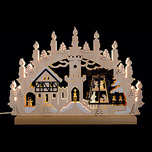 Candle Arches Fret Saw Work 3D Double Arch - Pyramid Singers - 42x30x4,5 cm / 16x12x2 inch
