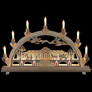 Candle Arches Fret Saw Work 3D Double Arch - Sanssouci Palace - 50x32 cm / 20x12.6 inch
