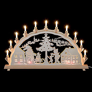 Candle Arches Fret Saw Work 3D Double Arch - Santa Claus - 68x35 cm / 27x14 inch