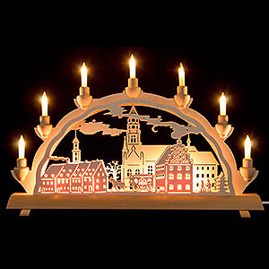 Candle Arches Fret Saw Work 3D Double Arch - Zwickau - 50x32 cm / 20x12.6 inch