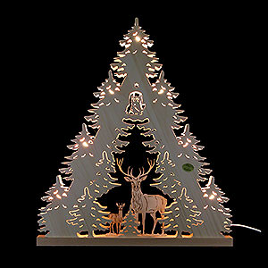 World of Light Light Triangles 3D Light Triangle - 'Deer' - 38x44x4,5 cm / 15x17.3x1.7 inch
