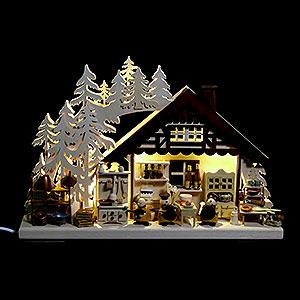 Schwibbögen Laubsägearbeiten 3D-Schwibbogen Kochprofis - 40x30 cm