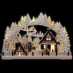 Schwibbögen Laubsägearbeiten 3D-Schwibbogen Weihnachtsvorbereitung - 43x30 cm