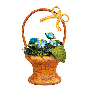 Kleine Figuren & Miniaturen Hubrig Blumenkinder 3er Set Blumenkorb-Vergissmeinnicht - 5 cm