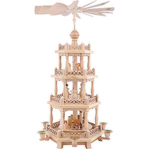 Christmas-Pyramids 4-tier Pyramids 4-Tier Pyramid - Baroque Fence - 57 cm / 22 inch