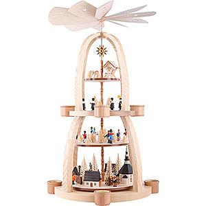 Christmas-Pyramids 4-tier Pyramids 4-Tier Pyramid - Christmas in Seiffen - 69 cm / 27 inch