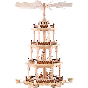 Christmas-Pyramids 4-tier Pyramids 4-Tier Pyramid - Merry Christmas - 51 cm / 20 inch