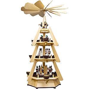 Christmas-Pyramids 4-tier Pyramids 4-Tier Pyramid - Miners - 74 cm / 29 inch