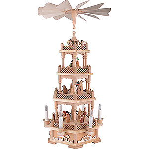 Christmas-Pyramids 4-tier Pyramids 4-Tier Pyramid - Nativity, Natural, Electric - 61 cm / 24.1 inch