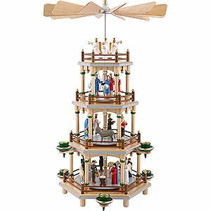 Christmas-Pyramids 4-tier Pyramids 4-Tier Pyramid - Nativity Scene - 45 cm / 18 inch