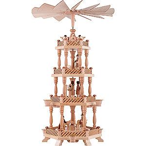 Weihnachtspyramiden 4-stöckige Pyramiden 4-stöckige Pyramide Christi Geburt - 58 cm
