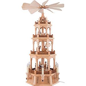 Weihnachtspyramiden 4-stöckige Pyramiden 4-stöckige Pyramide Christi Geburt - 61 cm