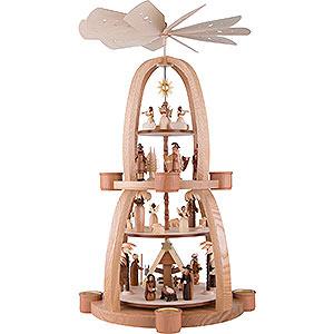 Weihnachtspyramiden 4-stöckige Pyramiden 4-stöckige Pyramide Christi Geburt - 68 cm