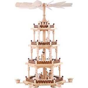 Weihnachtspyramiden 4-stöckige Pyramiden 4-stöckige Pyramide Krippenszene - 51 cm