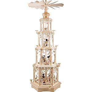 Angebote 4-stöckige Pyramide Walddesign - Wachskerzen mit Figuren - 135 cm