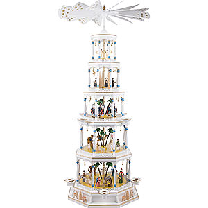 Christmas-Pyramids 5-tier Pyramids 5-Tier Pyramid - Nativity with Musical Mechanism - 123 cm / 9.1 inch