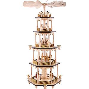 Weihnachtspyramiden 5-stöckige Pyramiden 5-stöckige Pyramide Christi Geburt - 70 cm