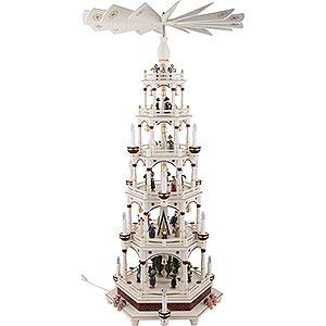 Christmas-Pyramids 6-tier Pyramids 6-Tier Pyramid - Silent Night - 106 cm / 42 inch