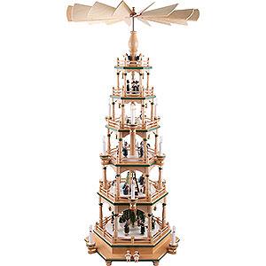 Weihnachtspyramiden 6-stöckige Pyramiden 6-stöckige Pyramide Paradies - 106 cm