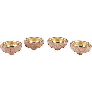 Weihnachtspyramiden Zubehör & Kerzen Adapter für Teelicht 1,4 cm - 4er-Set