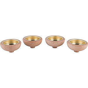 Weihnachtspyramiden Zubehör & Kerzen Adapter für Teelicht 1,4 cm - 4er Set