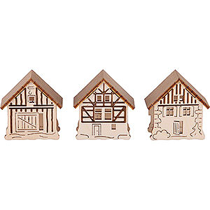 Specials Additional Houses, Set of Three - 5,5x5 cm / 2.2x2 inch