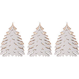 Candle Arches Arches Accessories Additional Trees with Snow, Set of Three - 5,5x5 cm / 2.2x2 inch