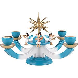Lichterwelt Adventsleuchter Adventsleuchter mit 4 sitzenden Engeln - 38x38 cm