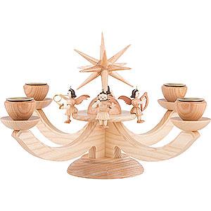 Lichterwelt Adventsleuchter Adventsleuchter mit 4 sitzenden Engeln - 38x38x20 cm