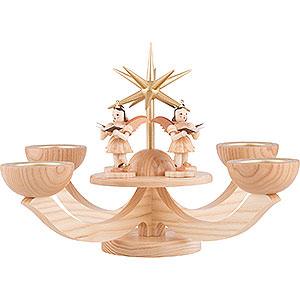 Lichterwelt Adventsleuchter Adventsleuchter mit Teelichthalter und 4 stehenden Engeln - 38x38x20 cm