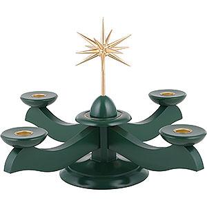 Lichterwelt Kerzenhalter Sonstige Adventsleuchter mit Weihnachtsstern und Adventsgrün - 29x29x26 cm