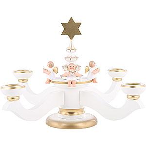 Lichterwelt Kerzenhalter Engel Adventsleuchter weiß - 20,0 cm