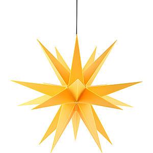 Adventssterne und Weihnachtssterne Saico Sterne Adventsstern für den Innen-und Aussenbereich gelb inkl. Beleuchtung - 60 cm