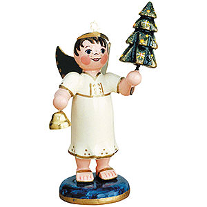 Angels Angels - white (Hubrig) Angel Boy with Christmas Tree - 6,5 cm / 2,5 inch
