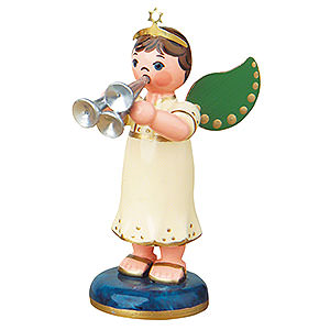 Angels Orchestra (Hubrig) Angel Boy with Shawm - 6,5 cm / 2,5 inch
