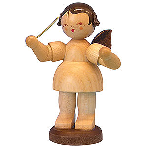 Angels Angels - natural - large Angel Conductor - Natural Colors - Standing - 9,5 cm / 3,7 inch