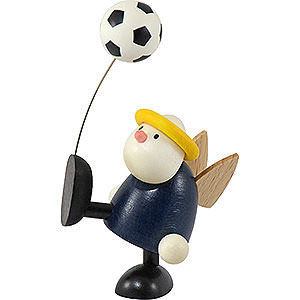 Small Figures & Ornaments Hans & Lotte (Hobler) Angel Hans with Football Balancing - 7 cm / 2.8 inch
