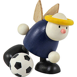 Small Figures & Ornaments Hans & Lotte (Hobler) Angel Hans with Football Shooting - 7 cm / 2.8 inch